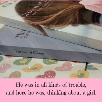 He was in all kinds of trouble, and here he was, thinking about a girl.
