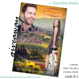 Autumn Macarthur mini-interview + 2 ebook Dolce Vita #giveaway on Hoarding Books